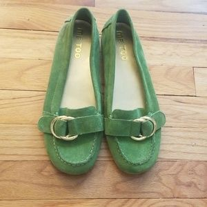 Me too green loafers